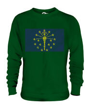 INDIANA STATE SCRIBBLE FLAG UNISEX SWEATER TOP GIFT INDIANIAN FOOTBALL