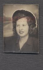 Vintage Photo Pretty Girl w/ Festive Dingle Ball Hat in Photobooth 691088
