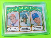1972 Topps #85 NL Batting Leaders Joe Torre Ralph Garr Glenn Beckert NrMt