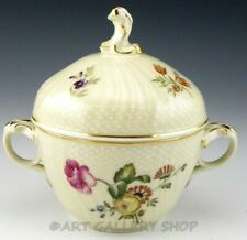 Royal Copenhagen Denmark #1865 Frijsenborg Sugar Bowl With Lid