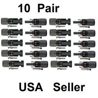 10 pairs MC4 30A Male Female M/F Wire PV Cable Connector Set Solar Panel USA