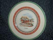Rare Villeroy & Boch Festive Memories Winter Scenes Salad Plate Sleigh NWT