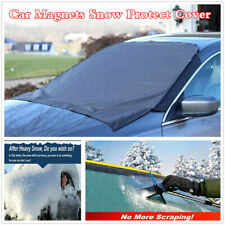 Magnetic Car Front Windshield Snow Cover Ice Frost Guard Sunshade Protector Tarp