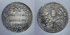 2 CARLINI 1796 XXII PIO VI STATO PONTIFICIO
