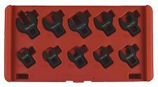 """Trident Tools 10 Piece 3/8"""" drive Metric Crowfoot Wrench Set 10 - 19mm T214200"""