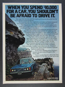 1976 Volvo 264 GL blue sedan car photo vintage print Ad