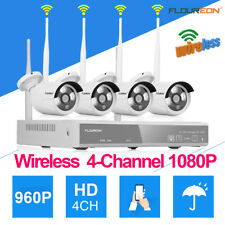 4CH 1080P Wireless CCTV DVR 960P Wifi IR Outdoor Home Security IP Camera System