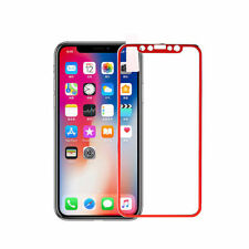 For iPhone X Screen Protector Tempered Glass Film Red Full Coverage 3D Curved