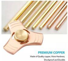Hand Spinner Tri Fidget Toy V2 Pcc Copper EDC Desk Stainless steel 608 Bearings