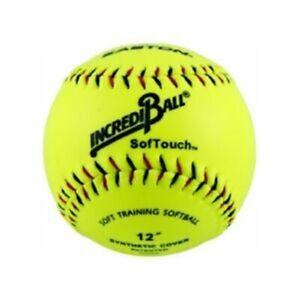 "Easton 12"" Neon Soft Touch Training Softball (One Dozen)"