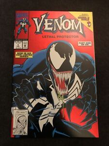 VENOM: LETHAL PROTECTOR #1  RED FOIL COVER LIMITED SERIES  1993