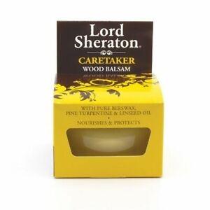 Lord Sheraton Caretaker Pure Beeswax Wood Balsam 75ml Nourishes and Protects