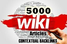 Rank On Google with 5000 Wiki articles contextual Backlinks - SEO
