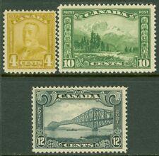 EDW1949SELL : CANADA 1928-29 Scott #152, 55, 56 All Fresh & Mint NH. Cat $177.00
