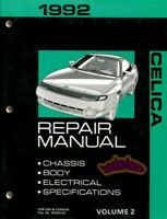 SHOP MANUAL CELICA SERVICE REPAIR 1992 TOYOTA BOOK HAYNES CHILTON