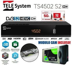 Decoder Satellitare HD Compatibile Tivu'sat Telesystem Ts4502 CI+ Full HD 1080p