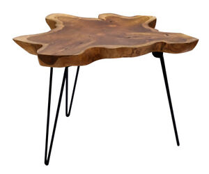 Teakwood Klapptisch Coffee Table Side Teak Wooden Foldable Living Room