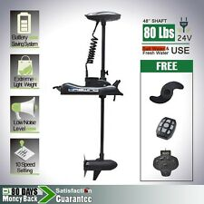 Haswing 24V 80 lbs Bow Mount Electric Trolling Motor with Foot Control