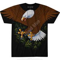 VINTAGE EAGLE-2 sided T-SHIRT-PATRIOTIC-S-M-L-XL-XXL-3X American Wildlife, Bald