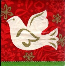 White Peace Dove Christmas Holiday Napkins New In Packages By Pier 1  - 3 Packs