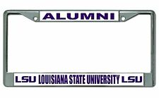 LSU Tigers Alumni Chrome License Plate Frame