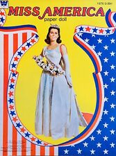 Vintage Original Miss America Paper Doll Book ~USA~July 4th~Beauty Pageant~Uncut