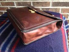 RARE VINTAGE 1980's BROWN SOFT BOMBER JACKET LEATHER LAPTOP BRIEFCASE BAG R$698