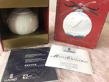 "Lladro ""2002 Christmas Ball"" Angel & Horse Matte Ornament 01016722 w/ Box Euc"