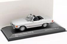Mercedes-Benz 350 SL Baujahr 1974 silber metallic 1:43 Minichamps