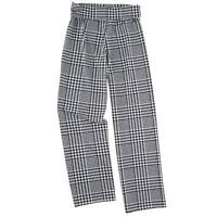 Mud Pie Womens Harlow Wide Leg Loose Fit Pants Poly Jersey Houndstooth Plaid
