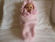 Hand knitted hat and cuddle cup for Bitty Baby or any 15' inch doll