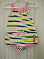 JUICY COUTURE GIRL 3-6 MTHS striped shorts ROMPER NWT