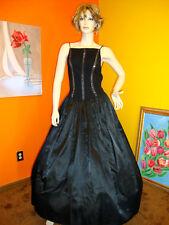 NICOLE BAKTI/CACHE BLACK EVENING DRESS/GOWN CRYSTALS  S