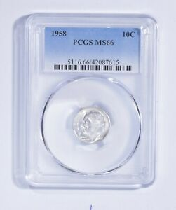 MS66 1958 Roosevelt Dime - Graded PCGS *124