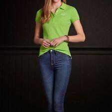 NWT Hollister Lime Green Short Sleeve Polo Golf School Shirt Sz. Jrs Medium M