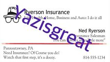 NED RYERSON Stephen Tobolowsky GROUNDHOG DAY Insurance Business CARD Movie Prop
