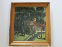 AMERICAN REGIONALISM PAINTING 1940'S EARLY CALIFORNIA IMPRESSIONIST LANDSCAPE