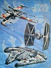 Star Wars Fleece Throw Blanket Blue Northwest 40x50 Aircraft Boys NWOT
