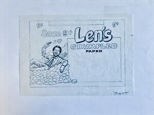 1991 Topps Wacky Packages PUBLISHED ROUGH ART BACK LEN'S to #4 Stupid Moron 2