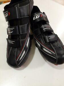 Louis Garneau Ergo Pro Cycling Shoes Men Size 12.5 US Black