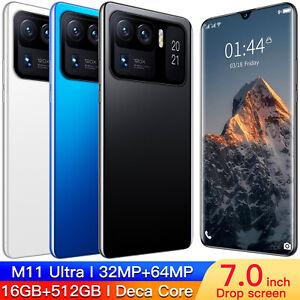 "Global Version M11 Ultra 6.9"" Smartphone 6800mAh 16+512GB Android 11 Smart phone"