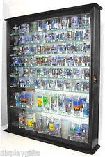 110 Shot Glass Display Case Wall Cabinet  Rack Shadow Box. SC09-BLA