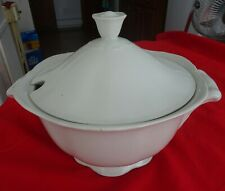 """Arabia Finland White Soup Tureen with Lid  8"""" High   2 Quart"""