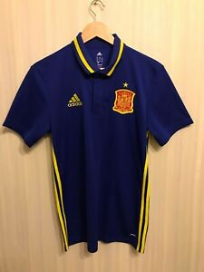 5+/5 Spain national team Size M Adidas polo shirt jersey maillot football soccer