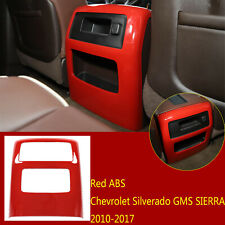 Red ABS Rear Air Vent Outlet Trim For Chevrolet Silverado GMS SIERRA 2010-2017