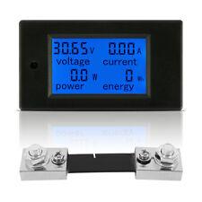 100A Tester Charger Ammeter Current Power Meter Voltage Energy Voltmeter UK