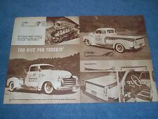 "1951 GMC Custom Led Sled Vintage Article ""Too Nice For Trucking' Geisler Cons."