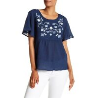 NWT Womens Size Small Medium Nordstrom Vince Camuto Embroidered Gauze Blouse