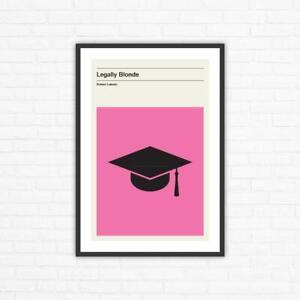 Legally Blonde Minimalist Mid Century Movie Poster, Robert Luketic