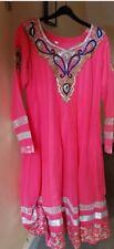 long 3 piece flair dress pink, size 12/14 Churidhar trousers, Indian, pakistani